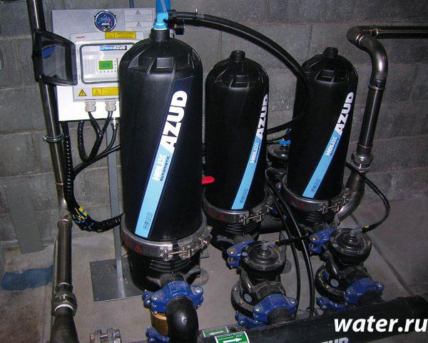 Дисковый фильтр с автоматической промывкой Azud 202