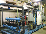Система предварительной грубой механической фильтрации воды перед системой ультрафильтрации