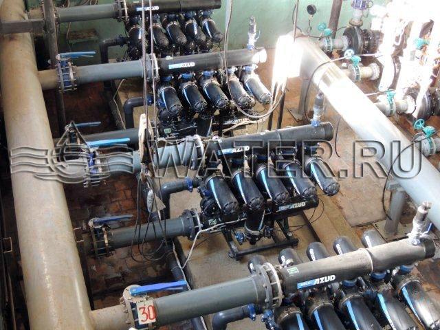 первая ступень реконструкции фильтровально-насосной станции производительностью 500м3/ч.
