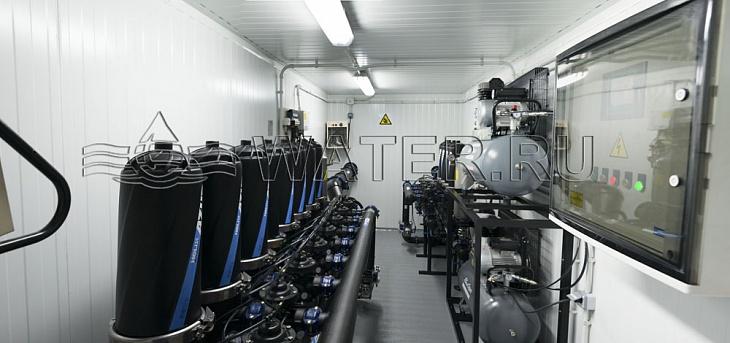применение фильтров azud в установке для фильтрации подпиточной воды оборотной системы и байпасной фильтрации оборотной воды