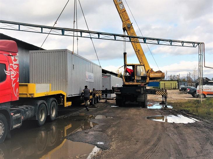 погрузка контейнерной системы обезжелезивания 1100 м3/сутки