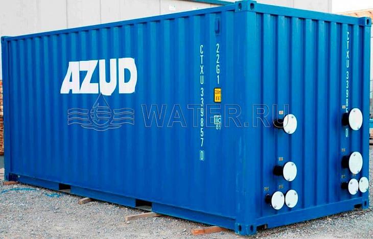 контейнерное исполнение установки байпасной фильтрации оборотной воды и фильтрации подпиточной воды оборотной системы