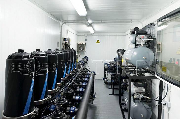 фильтрация подпиточной воды оборотной системы в контейнерном исполнении