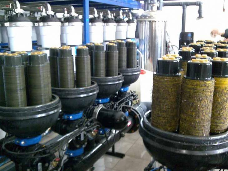 дисковые фильтрующие элементы во время проведения регламентных работ после паводка