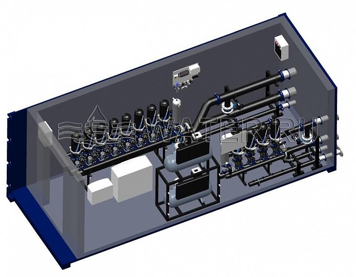 проект фильтрации подпиточной воды оборотной системы (100 мкм, 80 м3/ч) и байпасной фильтрации оборотной воды (50 мкм, 110 м3/час)