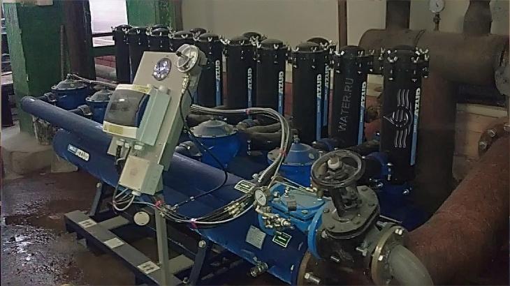 """автоматическая система механической фильтрации """"azud hf helix automatic 405l/10fx hp"""" произв-тью 350м3/час, ооо «завод николь-пак», г. учалы. промышленная водоподготовка"""