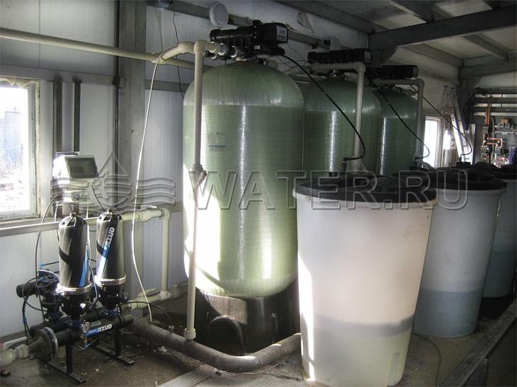 промышленная система водоподготовки для водогрейных котлов производительностью 15 м3/ч