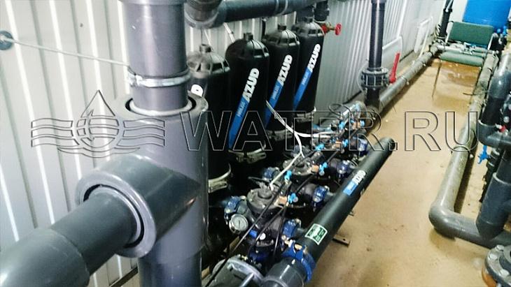 дисковые фильтры механической очистки с автоматической промывкой azud hf 204/6 fx