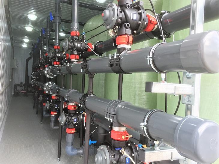 блок автоматических самопромывных скорых фильтров обезжелезивания воды eim 25x7